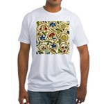 Elizabethan Swirl Embroidery Fitted T-Shirt