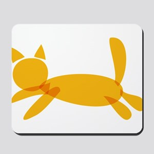 Cute Cat (Kitty) Cut Out for Cat Lovers Mousepad