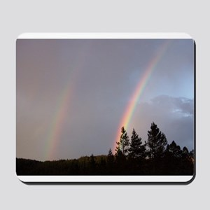 Double rainbow in Colorado Mousepad