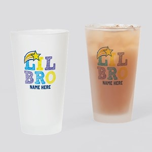 Add Name Lil Bro Drinking Glass