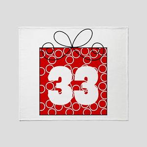33rd Birthday Mod Gift Throw Blanket
