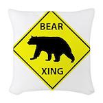 Bear Crossing Woven Throw Pillow