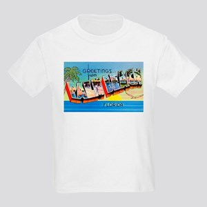 Palm Beach Florida Greetings (Front) Kids T-Shirt