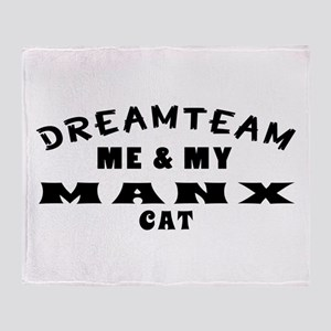 Manx Cat Designs Throw Blanket