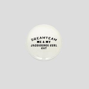 Jaguarundi curl Cat Designs Mini Button