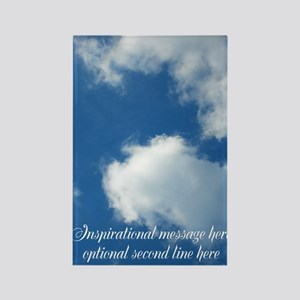 inspirational clouds poster Rectangle Magnet