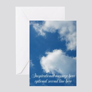 inspirational clouds poster Greeting Card