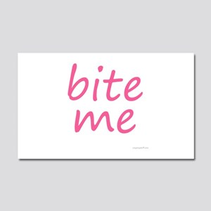 bite me Car Magnet 20 x 12