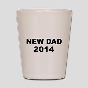 NEW DAD 2014- 2 Shot Glass