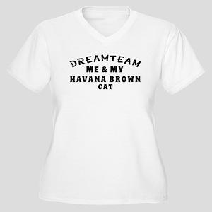 Havana Brown Cat Designs Women's Plus Size V-Neck