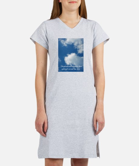 inspirational clouds poster Women's Nightshirt