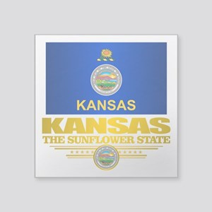 "Kansas (v15) Square Sticker 3"" x 3"""