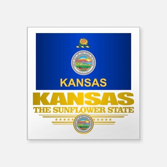 "Kansas (v15) Square Sticker 3"" x 3"""