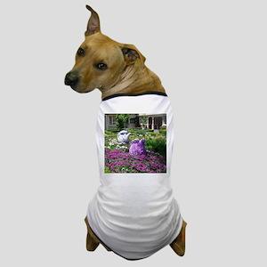 Tea Time English Garden Dog T-Shirt