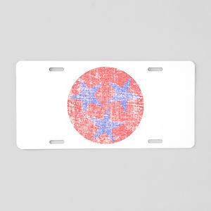 Blue Star Flag Aluminum License Plate