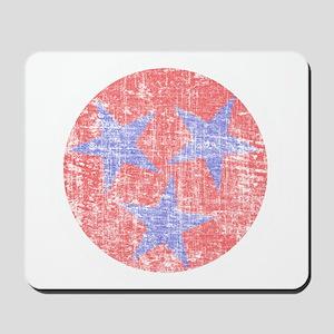 Blue Star Flag Mousepad