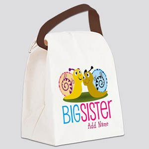 Add Name Big Sister Canvas Lunch Bag