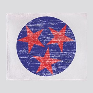 Tennessee America Throw Blanket