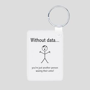 Without Data Aluminum Photo Keychain