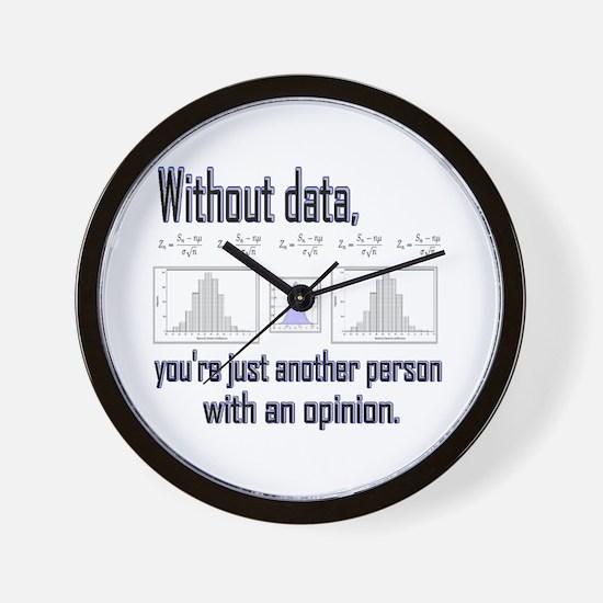 Cute Data Wall Clock