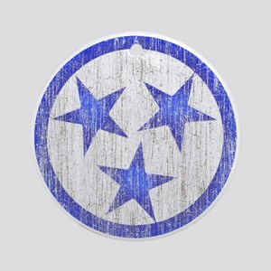 Aged Tennessee Ornament (Round)