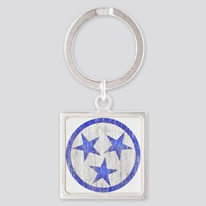 Aged Tennessee Square Keychain
