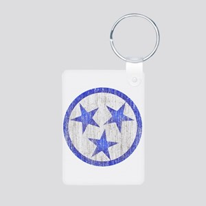 Aged Tennessee Aluminum Photo Keychain