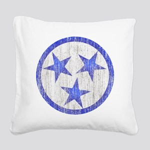 Aged Tennessee Square Canvas Pillow