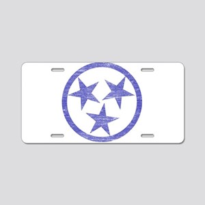 Faded Tennessee Blues Aluminum License Plate