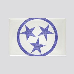 Faded Tennessee Blues Rectangle Magnet