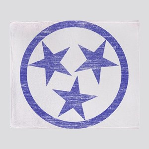 Faded Tennessee Blues Throw Blanket