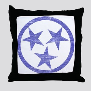 Faded Tennessee Blues Throw Pillow