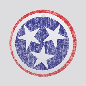 Faded Tennessee Flag Ornament (Round)