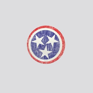 Faded Tennessee Flag Mini Button
