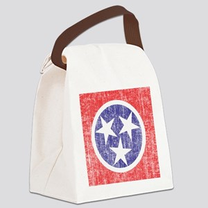 Faded Tennessee Flag Canvas Lunch Bag
