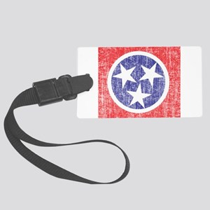 Faded Tennessee Flag Large Luggage Tag
