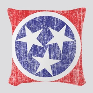 Faded Tennessee Flag Woven Throw Pillow