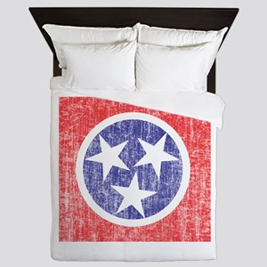 Faded Tennessee Flag Queen Duvet