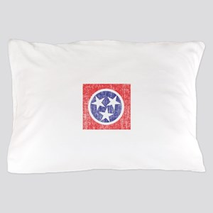 Faded Tennessee Flag Pillow Case