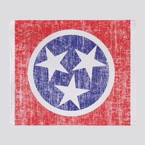 Faded Tennessee Flag Throw Blanket