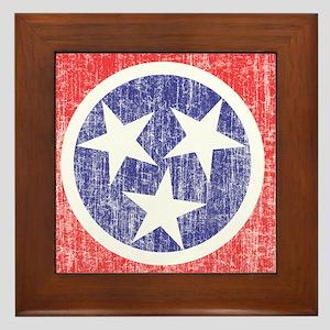Faded Tennessee Flag Framed Tile