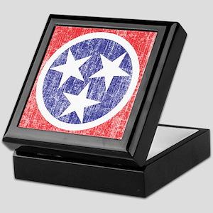 Faded Tennessee Flag Keepsake Box