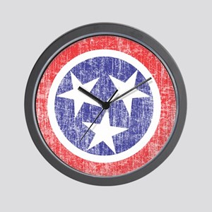 Faded Tennessee Flag Wall Clock