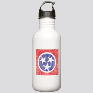 Faded Tennessee Flag Stainless Water Bottle 1.0L