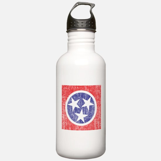 Faded Tennessee Flag Water Bottle