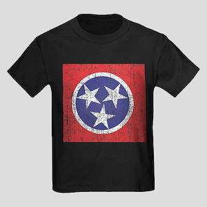 Faded Tennessee Flag Kids Dark T-Shirt