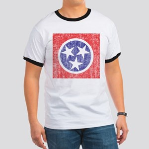 Faded Tennessee Flag Ringer T