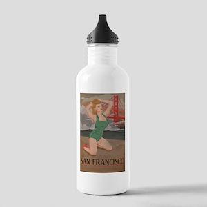 Vintage San Fran Travel Water Bottle