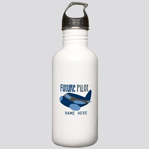Add Name Future Pilot Stainless Water Bottle 1.0L