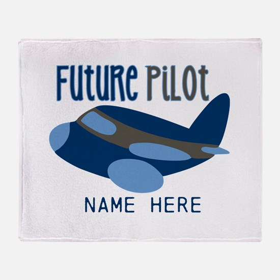 Add Name Future Pilot Throw Blanket
